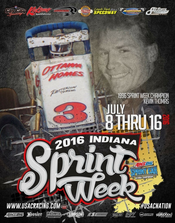 INDIANA SPRINT WEEK BEGINS; GAS CITY (FRI), KOKOMO (SAT) & LAWRENCEBURG (SUN)
