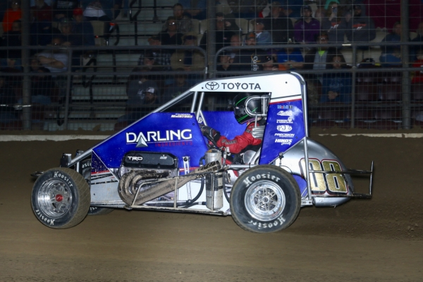 "Cannon McIntosh picked up his first career USAC NOS Energy Drink National Midget win Saturday night in the ""Shamrock Classic"" at the Southern Illinois Center."
