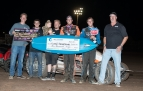 Winner Richard Vander Weerd is joined by his crew in victory lane at Ventura.