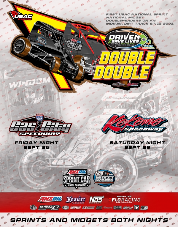 EVENT INFO: GAS CITY USAC MIDGET DOUBLE DOUBLE: 9/25/2020