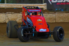 Defending USAC AMSOIL National Sprint Car champion Chris Windom.