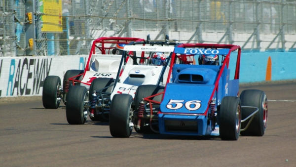 USAC Silver Crown action at Phoenix International Raceway from 2002, which you can watch this week on FloRacing 24/7.