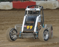 Winner Gage Etgen in action Saturday night at Montpelier.