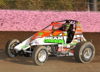"Brady Bacon won the recent ""Four Crown Nationals"" USAC AMSOIL Sprint Car Feature in September."