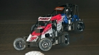 #7x Thomas Meseraull & Justin Grant battle for position during the 2020 USAC NOS Energy Drink National Midget season.