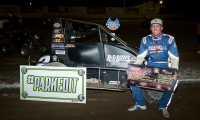 Robby Josett won Saturday night's USAC Western States Midget race at Ventura (Calif.) Raceway.