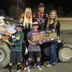 Richard Vander Weerd in victory lane Saturday night.