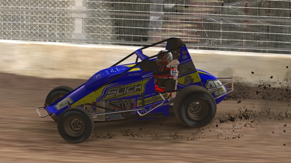 David Heileman led a Slick Simsport sweep of the podium in Wednesday's iRacing USAC World Championship presented by FloRacing round from Kokomo Speedway.