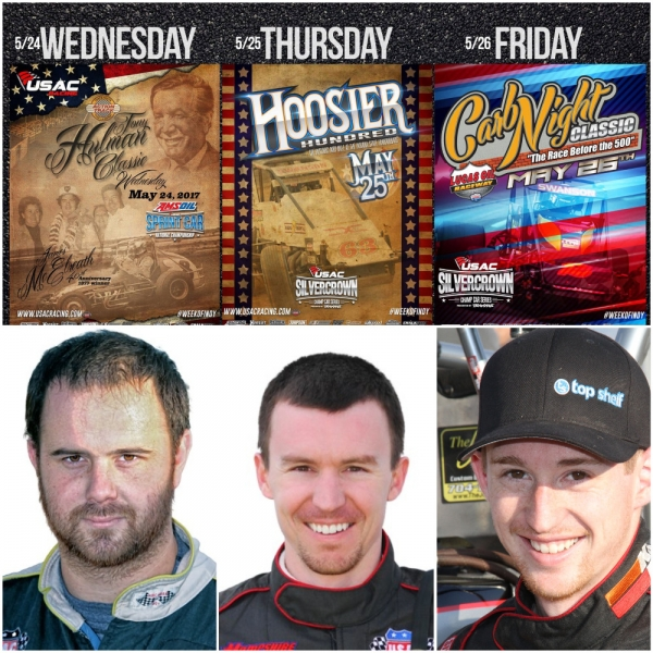 Robert Ballou (Left), Kody Swanson (Middle) and Tanner Swanson (Right) can make USAC history this week.