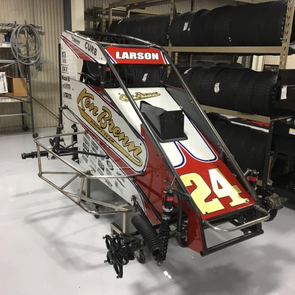 The #24 Ken Brenn Special livery Kyle Larson will drive for Keith Kunz Motorsports/Curb-Agajanian during the first three races of Pennsylvania Midget Week.