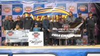 The entire DePalma Motorsports team celebrated their victory and championship on the Syracuse stage.