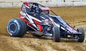 Justin Grant was victorious in last Friday's first ever appearance by the USAC AMSOIL Sprint Car National Championship at Plymouth (Ind.) Speedway.