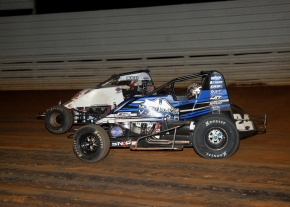 Robert Ballou made the winning pass on Landon Simon on Lap 19.