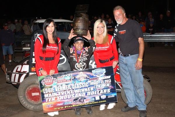 Rico ABreu celebrates after his Calistoga victory Saturday.