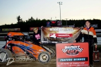 Chase Goetz poses after winning at Skagit.