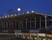 The covered grandstand of Indiana's Terre Haute Action Track.