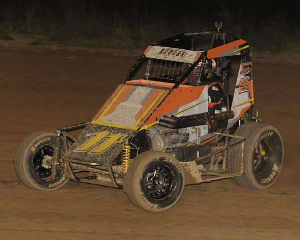 Two-time USAC Midwest Thunder Midget champ Aaron Leffel of Springfield, Ohio.