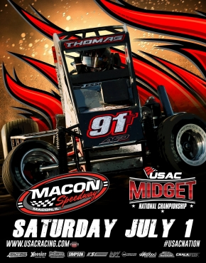 RACEDAY: USAC National Midgets - Macon Speedway