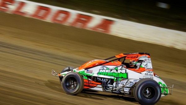 2014 4-Crown Nationals USAC AMSOIL National Sprint Car winner Brady Bacon of Broken Arrow, Okla.