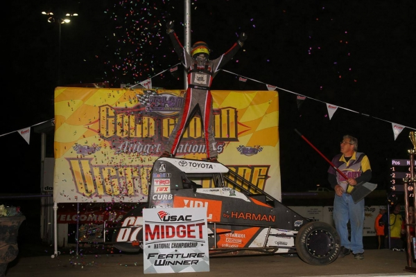 THORSON THWARTS MACEDO'S LATE-RACE CHARGE TO SWEEP 2ND STRAIGHT GOLD CROWN AT GRANITE CITY