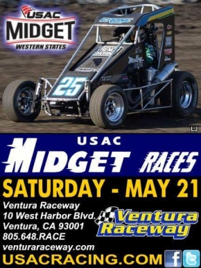 USAC RACE #378 AT VENTURA FEATURES WESTERN STATES MIDGETS