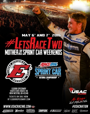 USAC SPRINTS AT ELDORA MAY 6-7 FOR #LETSRACETWO; BACON ANNEXES MONTPELIER DEBUT