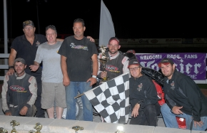 Adam Pierson and the Manafort Racing Team celebrate their DMA championship.