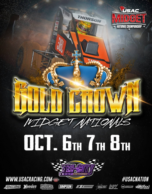 GOLD CROWN MIDGET NATIONALS TO BE STREAMED LIVE ON THE CUSHION!