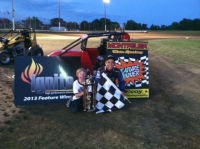 Gage Walker won the second feature at Montpelier.