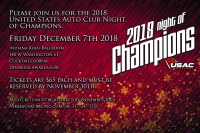 USAC NIGHT OF CHAMPIONS COMES TO DOWNTOWN INDY ON DECEMBER 7TH