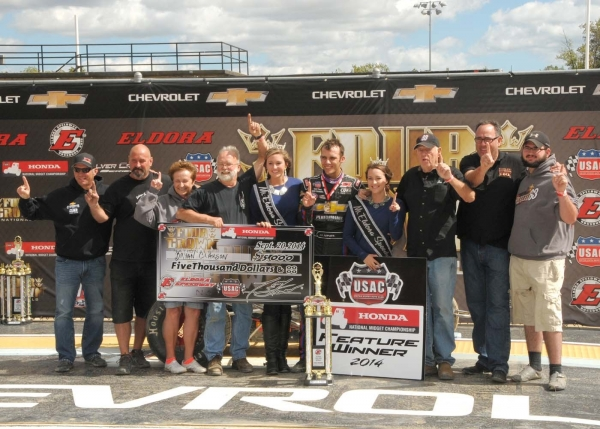 CLAUSON CLAIMS FIRST ELDORA MIDGET WIN IN