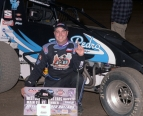 Dennis Howell poses after his victory at Tulare.