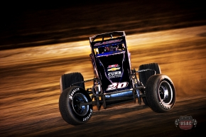"Bryan Clauson on his way to winning Night 1 of ""Sprint Car Smackdown II"""