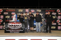 Bobby East and the Stewart/Curb-Agajanian team celebrate their 2013 TRAXXAS Silver Crown title.