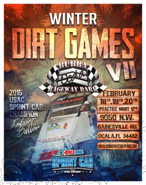 "3 ""WINTER DIRT GAMES VII"" SPRINTS AT OCALA"