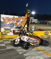 Chris Lamb celebrates after his win at Kenly