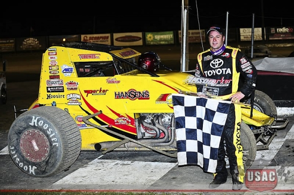 Tracy Hines returned to victory lane on Saturday at Bubba Raceway Park...
