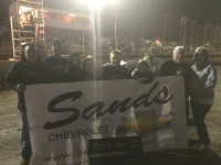 R.J. Johnson in Canyon Speedway Park's victory circle