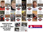 Congratulations to our 2014 USAC Honda .25 Midget Dirt National Champions!