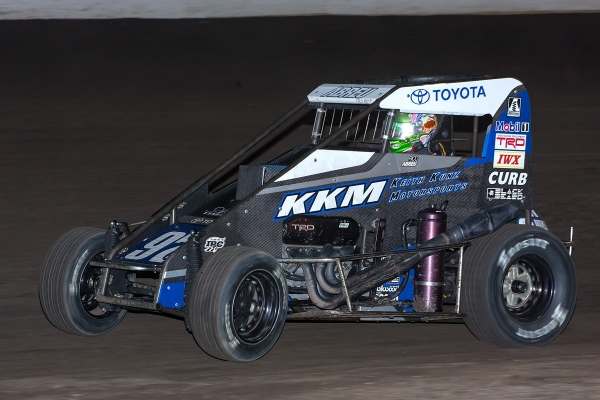 "Rico Abreu swept both ends of the ""Louie Vermiel Classic"" at Calistoga (Calif.) Speedway Sunday night, winning both the USAC Western States Midget and USAC/CRA Sprint Car feature on the night."