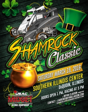 NEARLY 60 CARS ENTERED FOR Du QUOIN'S SHAMROCK CLASSIC USAC MIDGET OPENER SATURDAY