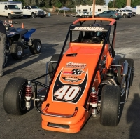 The Gerhardt-owned USAC Speed2 Western U.S. Midget driven by Blake Brannon.
