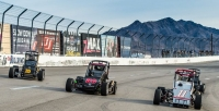USAC Western HPD Midget action at The Bullring at Las Vegas Motor Speedway in 2015.
