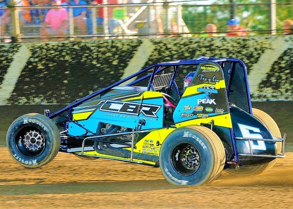 San Jose, California's Thomas Meseraull won Saturday night's Indiana Sprint Week opener at Kokomo Speedway.