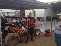 Daniel Anderson won Wednesday's Western HPD Midget featue at the Ventura County Fair.