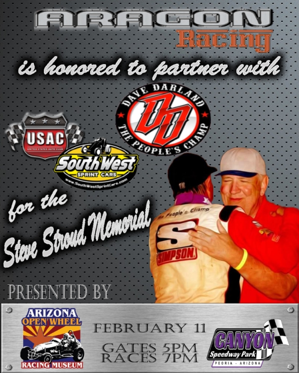 DARLAND TO HONOR STROUD IN SATURDAY'S USAC SOUTHWEST SPRINT RACE AT CANYON