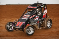 Dave Darland wheels the Gray Auto #11AG to the team's best ever USAC National Midget finish at Bloomington Speedway during Indiana Midget Week in 2016.