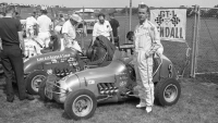 Don Meacham poses at the 1967 Hut 100.