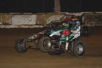 Bryan Clauson pulls the wheels up on his way to victory at Plymouth.
