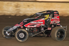 Aaron Farney during his first ride in the Michael Dutcher Motorsports #17GP at Kokomo (Ind.) Speedway on Sept. 2.
